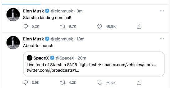 马斯克SpaceX在得州进行了第五次星际飞船试射并成功着陆