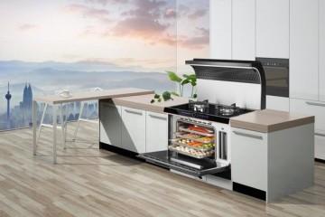 厨房有它就够了火星人E5C蒸烤一体集成灶